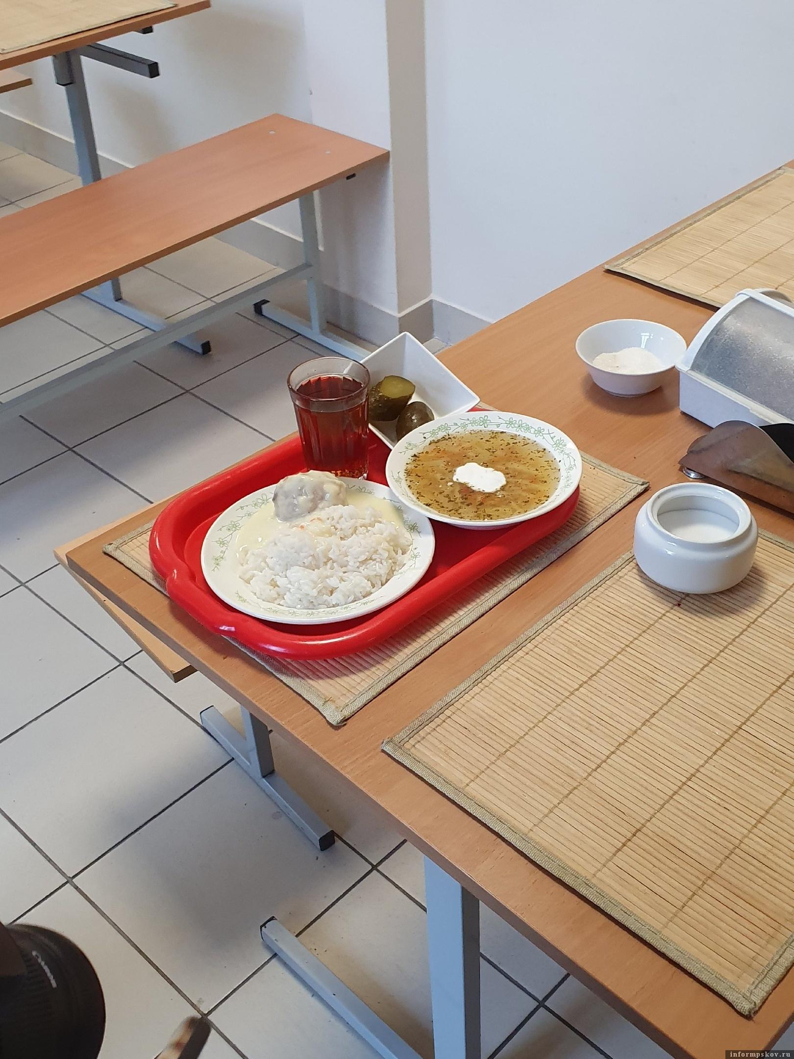 Вариант школьного обеда