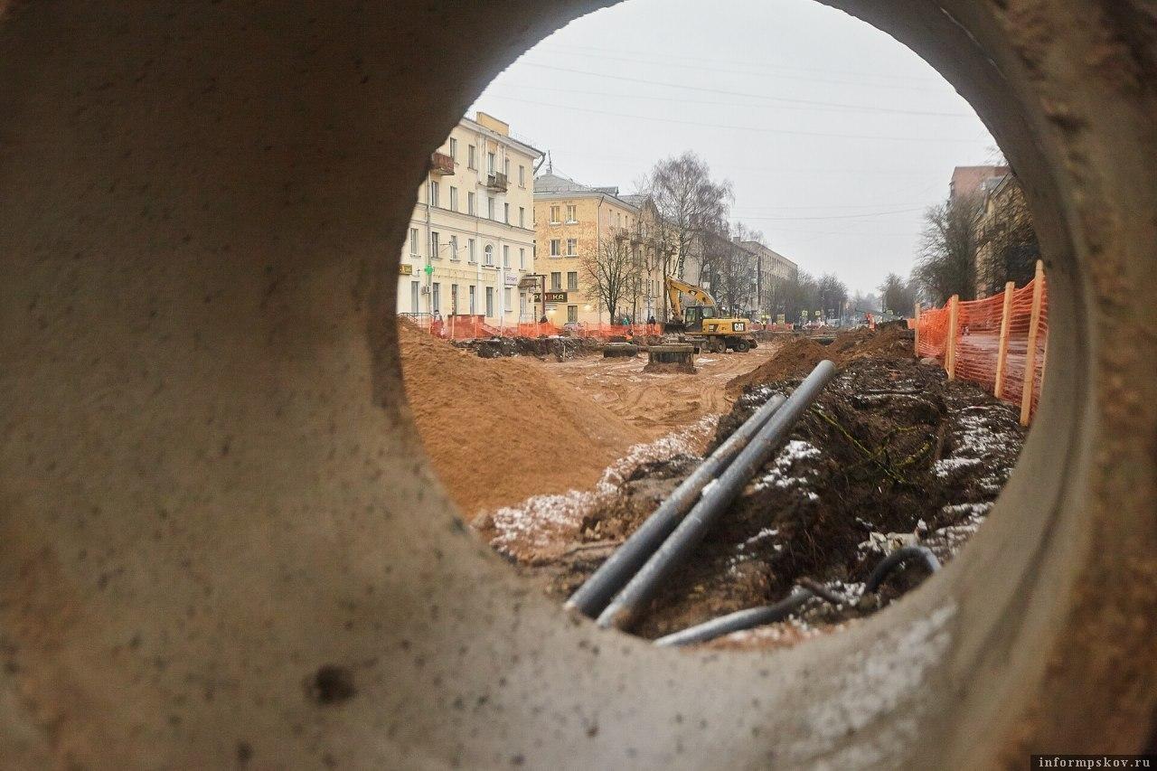 Улица Яна Фабрициуса в Пскове. Фото Дарьи Хватковой.