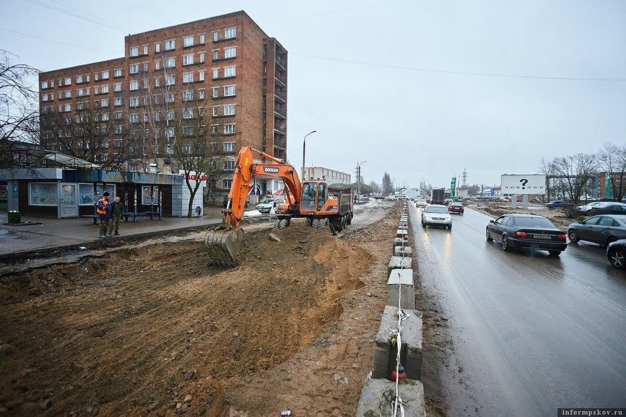 Улица Индустриальная в Пскове. Фото Дарьи Хватковой.