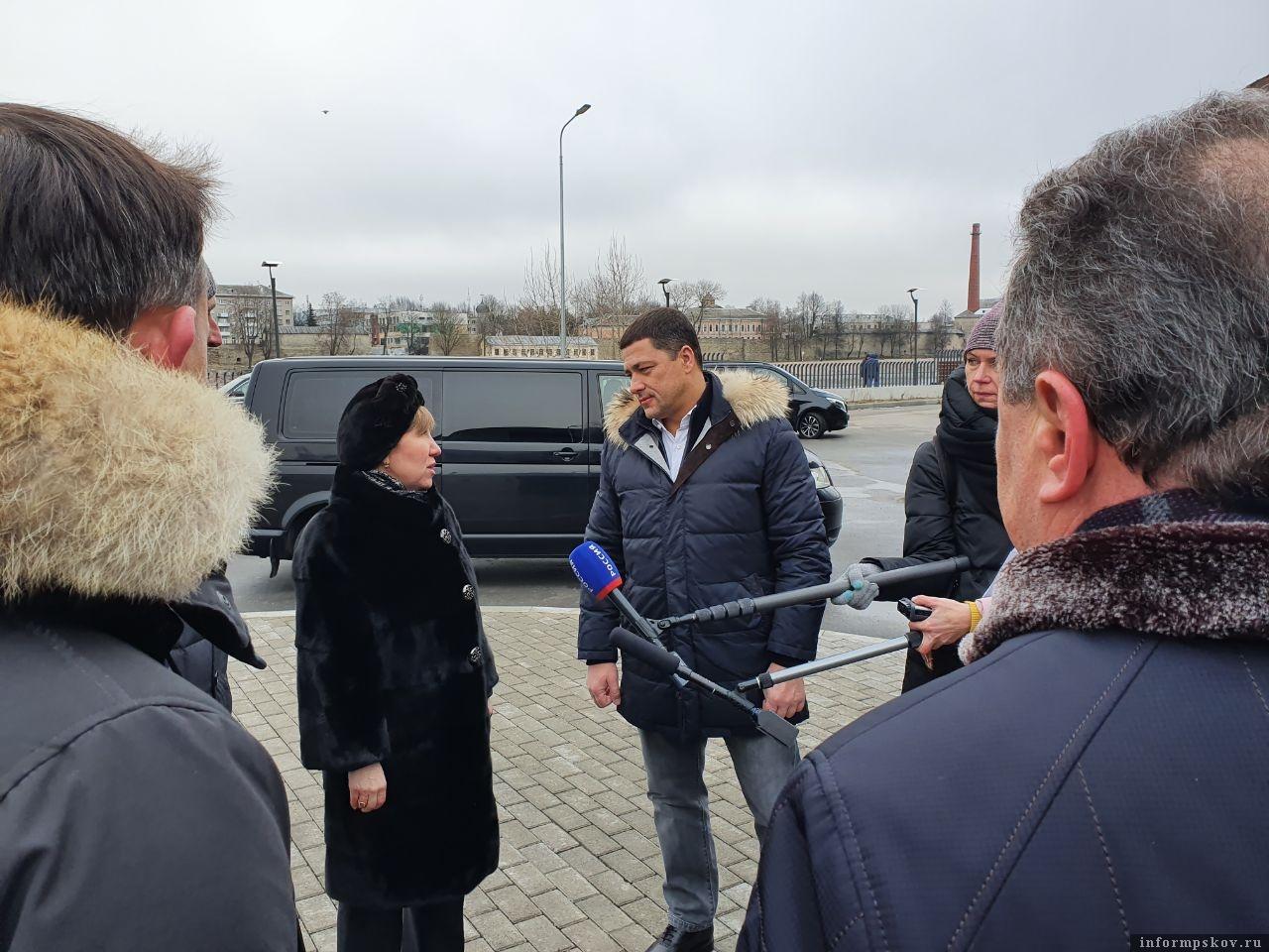 Псковский губернатор осмотрел кампус ПсковГУ 15 февраля. Фото: Наталья Оглоблина.