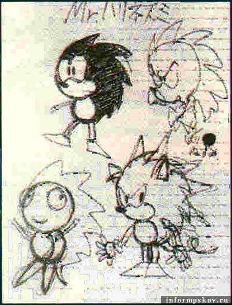 Концепт-арт Соника - Mr. Needlemouse / Sonic Team