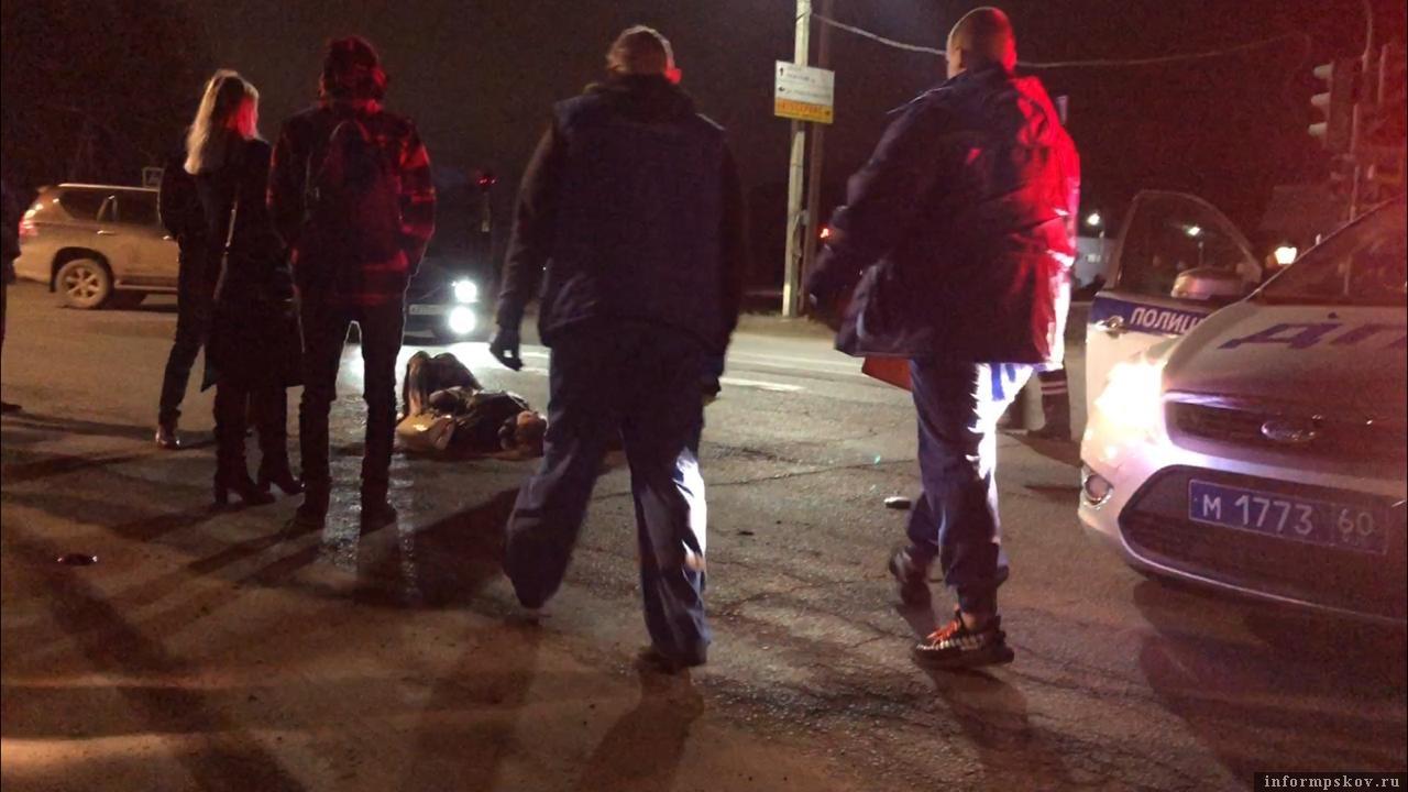 Очевидцы предполагают, что пострадавшая находилась в состоянии алкогольного опьянения в момент ДТП. Фото: ПАИ.
