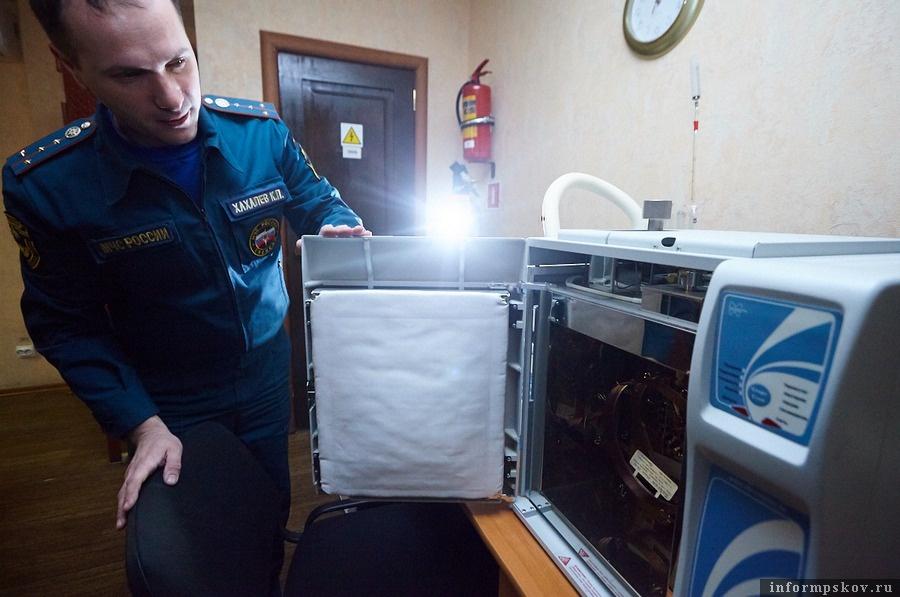 Хроматограф, позволяющий точно определить с помощью чего совершён поджог