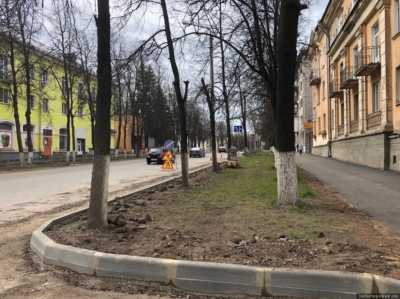 В Великих Луках в этом году отремонтируют большой участок дороги на  проспекте Ленина. Фото: газета «Великолукская правда. Новости».