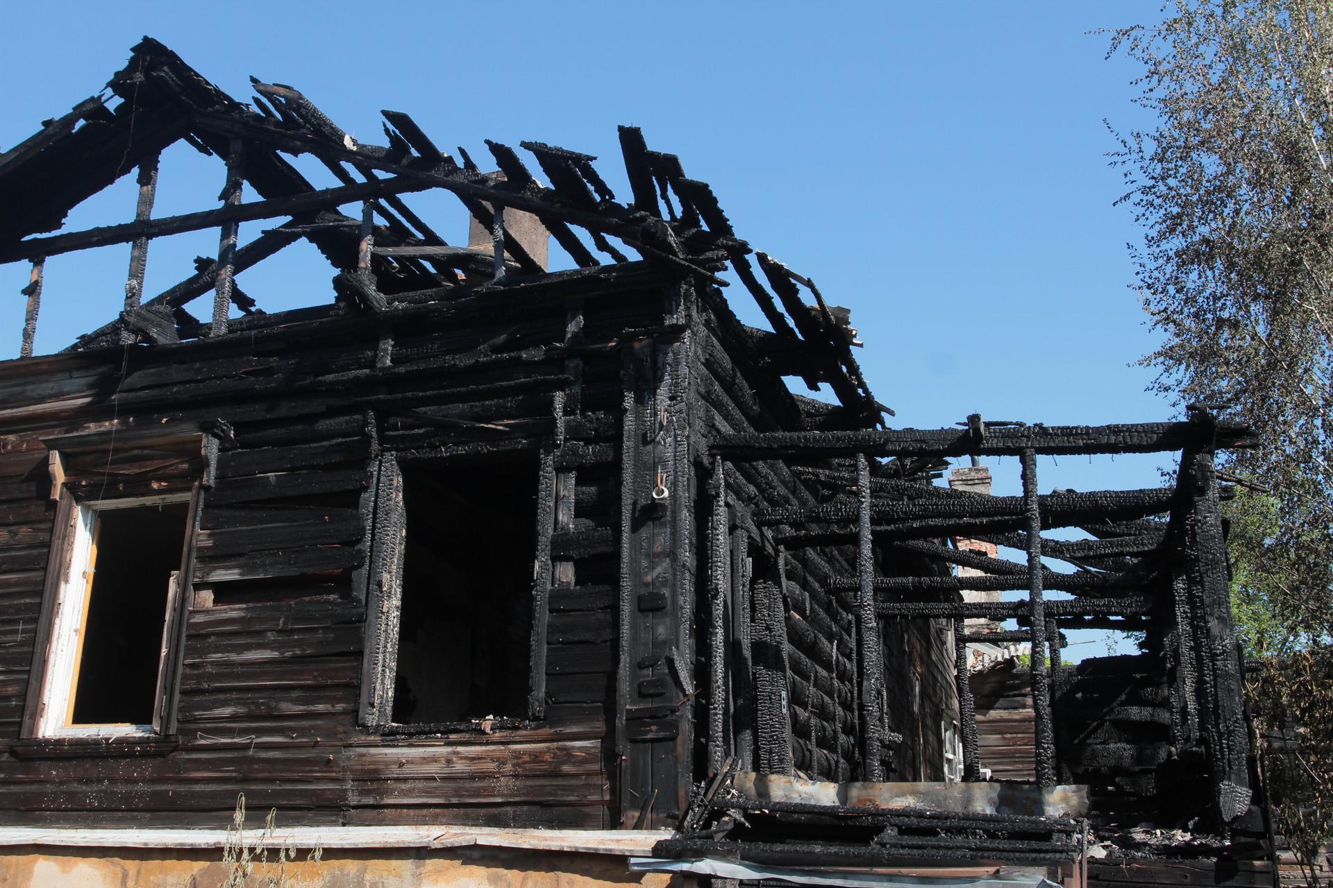Трое детей пострадали на пожарах в Псковской области. Фото Андрея Степанова.