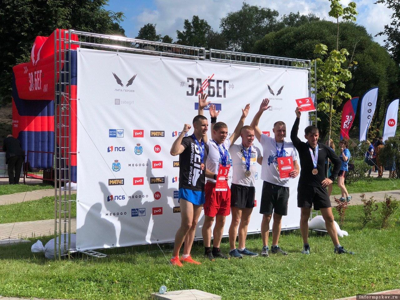 Победители полумарафона на дистанции 21,1 км. Фото Александры Сырчиной