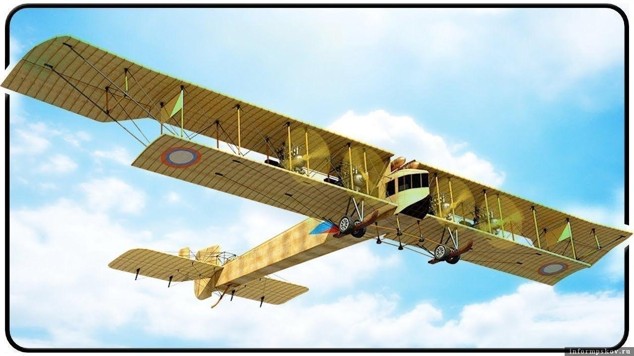 Русский богатырь «Илья Муромец» - первый в мире тяжелый дальний бомбардировщик и пассажирский самолет конструктора Игоря Сикорского.  Всего было изготовлено 72 самолета. Экипаж - 4-8 чел., 4 мотора,  дальность полета 560 км, грузоподъемность -2,5 т, практический потолок -  3200 м, разбег – 450 м, максимальная скорость – 130 км/час.