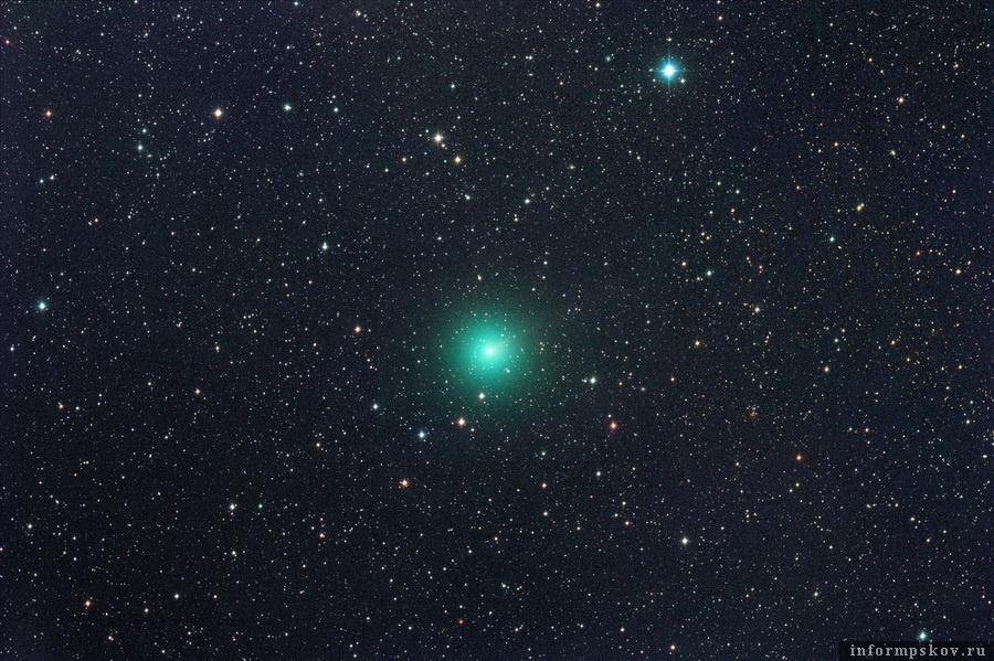 Комета C/2020 M3 (ATLAS). Снимок от 22 октября. Фото Михаэля Егера