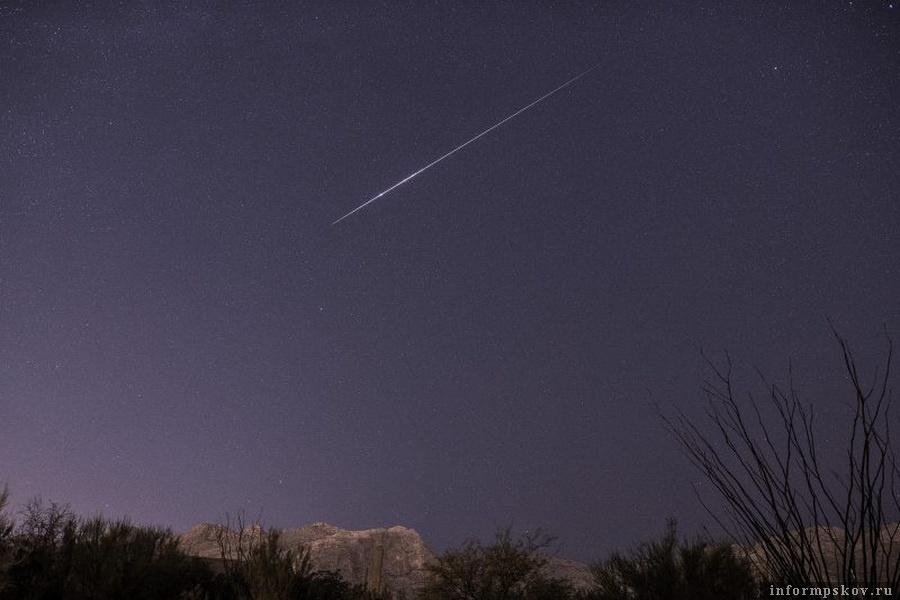 Болид из метеорного потока Урсиды. Фото с сайта earthsky.org