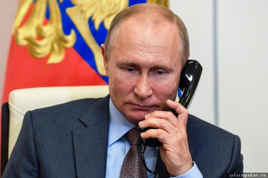 Путин поговорил по телефону с Байденом. Фото Алексей Никольский/пресс-служба президента РФ/ТАСС
