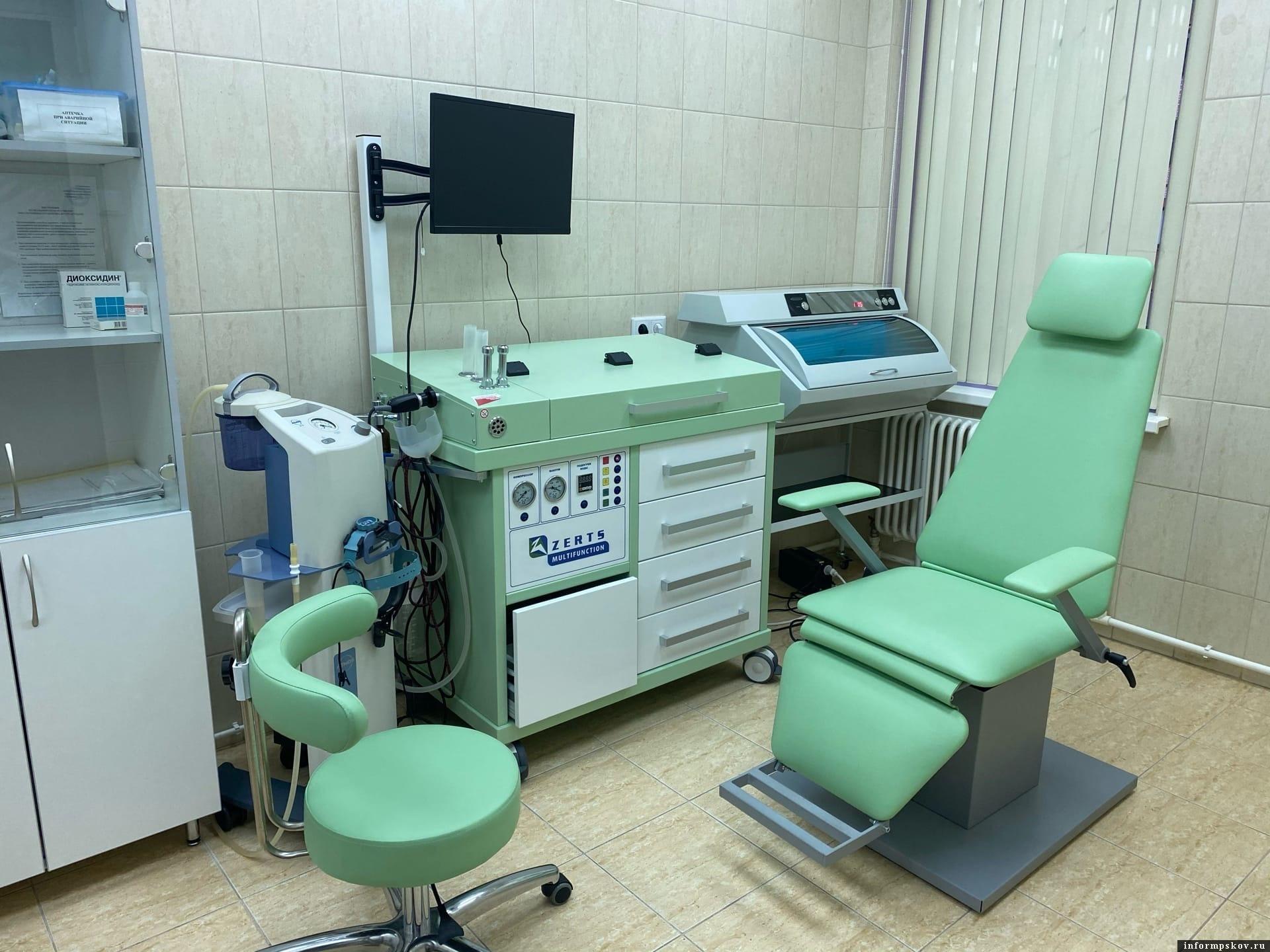 На фото: Современное оборудование, которое в 2020 году получила Псковская детская городская поликлиника в рамках нацпроекта «Здравоохранение»