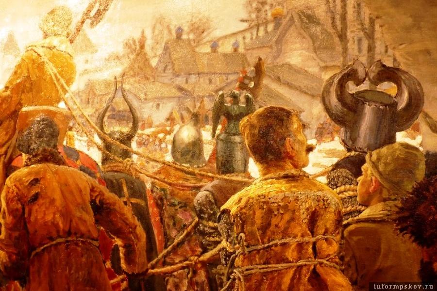 Сюжет картины относится к древнерусской истории, одному из самых важных сражений – Ледовому побоищу. Фото Храм Александра Невского