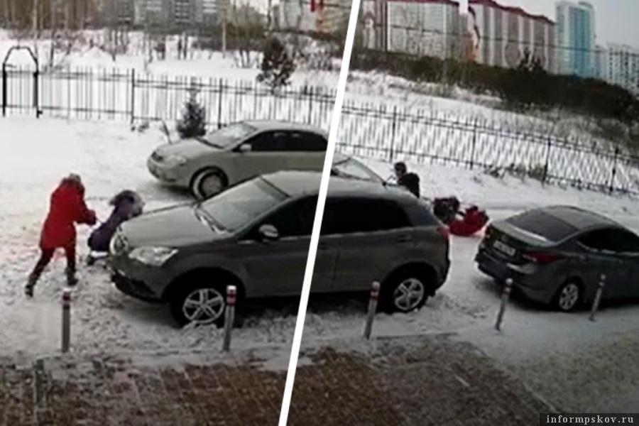 Момент удара запечатлела камера. Фото ngs.ru