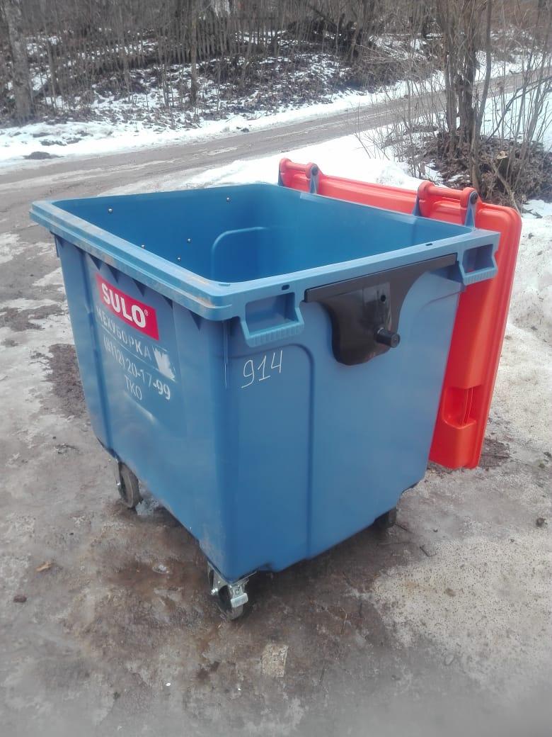 Новые контейнеры для мусора появились в Пушкиногорье. Фото ООО Экопром