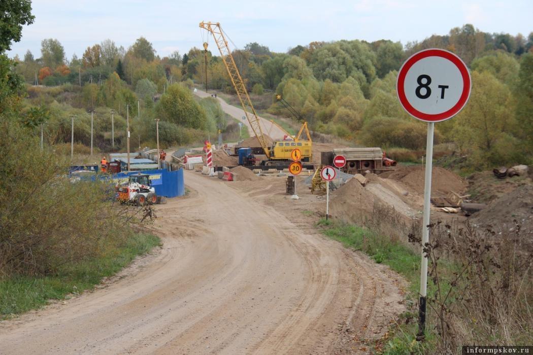 Строительство моста через реку Ашевка