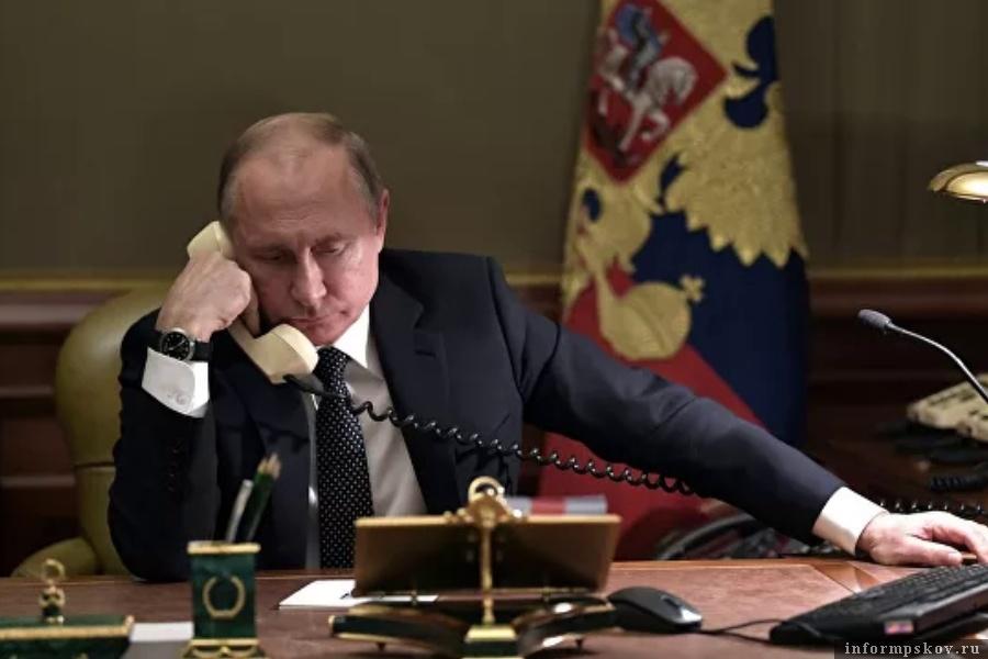 У Владимира Путина состялся телефонный разговор с американским президентом. Фото © РИА Новости / Алексей Никольский