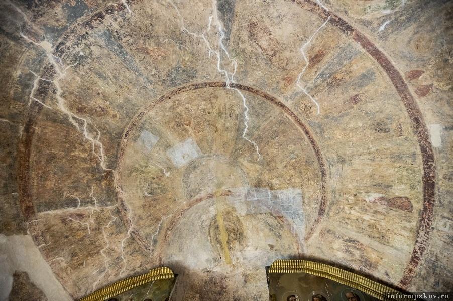 Фрагмент фресок Благовещенского храма