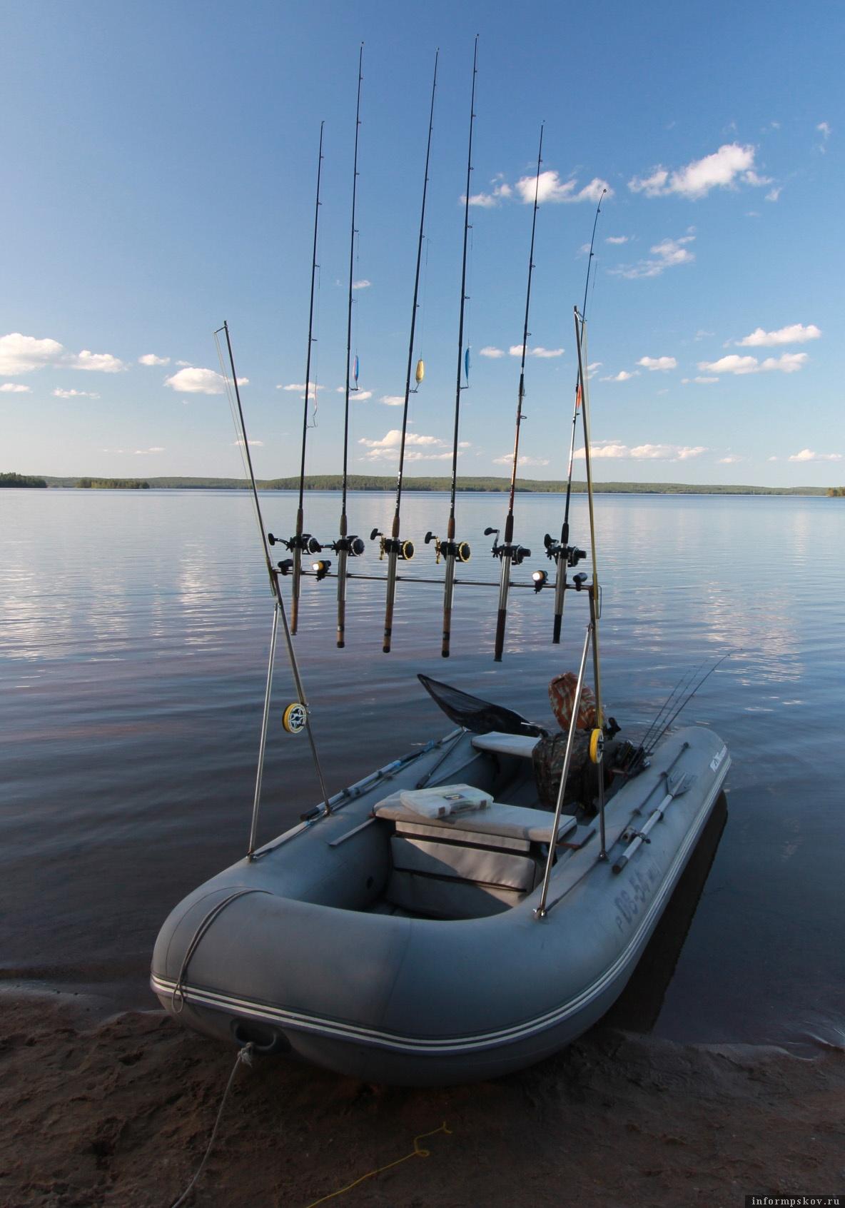 Такой троллинг, с применением более двух спиннингов, на водоёмах Псковской области запрещён Правилами рыболовства ещё с 2014 года. Фото предоставлено автором.