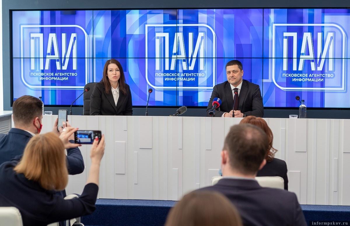 Михаил Ведерников в медиацентре ПАИ. Фото Сергея Герасимова