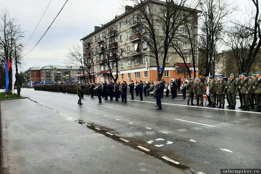 Псковские военные отрепетировали Парад Победы. Фото Telegram