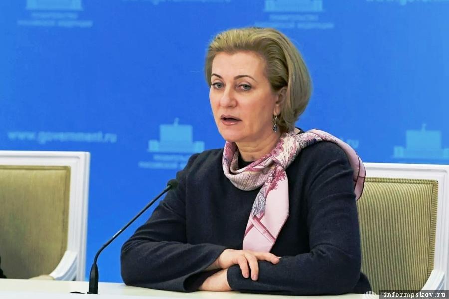 Анаа Попова сказала, что её ведомство внимательно следит за развитием ситуации. Фото  РИА Новости / Александр Астафьев
