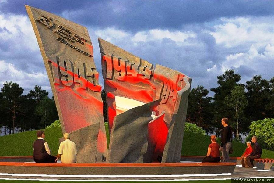 Так будет выглядеть монумент. Фото pravdapskov.ru