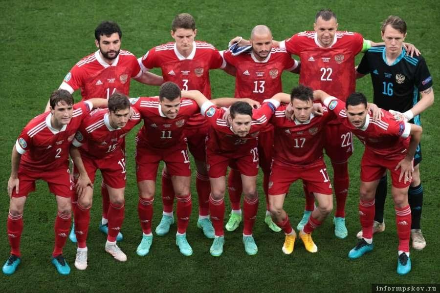 Сборная России перед матчем. Фото скрин видео