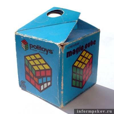 Оригинальная упаковка венгерского кубика Рубика, 1982 год
