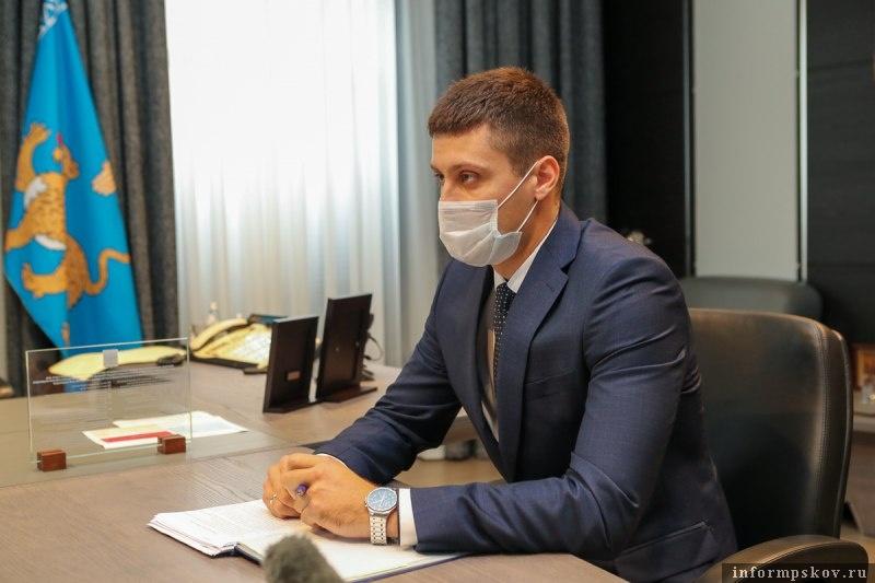 Глава администрации Великих Лук Андрей Беляев. Фото пресс-службы администрации Псковской области