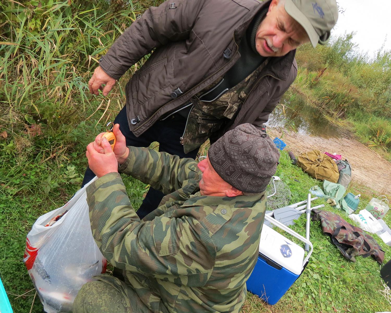 Взвешивание улова – обязательная традиция в нашей компании. Фото автора