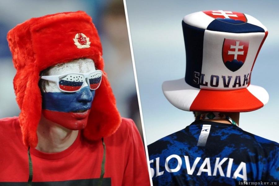 В матче Россия - Словакия гости сами себе забили первый гол. Фото championat.com
