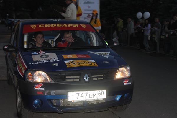 На фото: пскович Денис Гаврилов и петербуржец Егор Соболев на старте