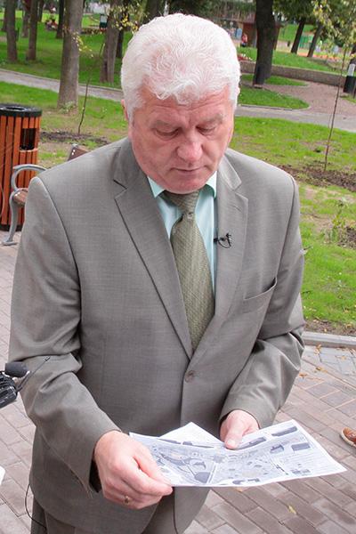Валерий Волков с удивлением смотрел на план реконструкции парка, в которым значались и фонтан, и скульптурные композиции