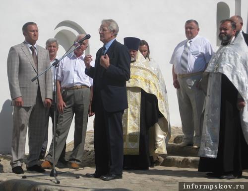 На фото: открытие церкви Богоявления с Запсковья