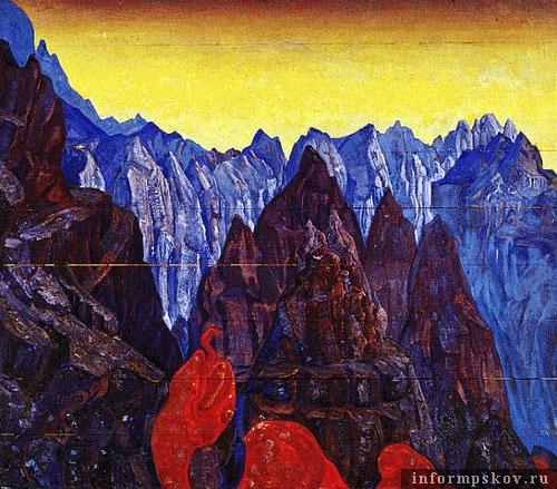 На фото: картина Н. К. Рерих «Крик змия»