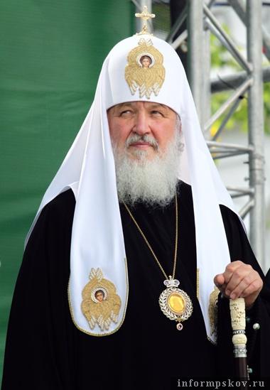 На фото: Патриарх Московский и всея Руси Кирилл