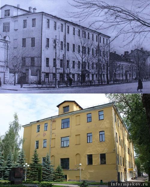 На фото: Псковский централ в XX и XXI веке