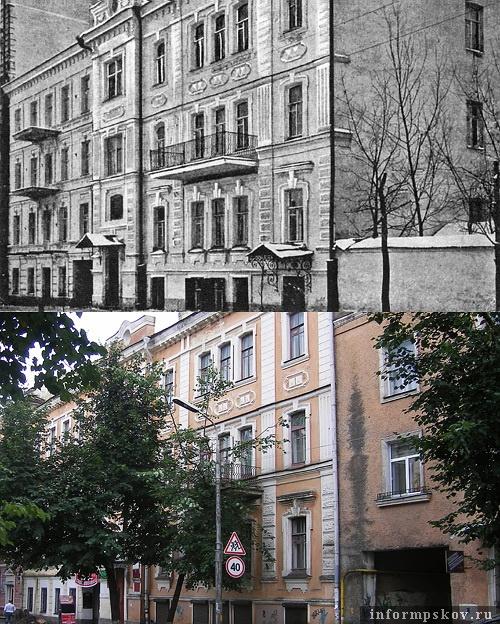 На фото: дом купца Чернова в XX и XXI вв.