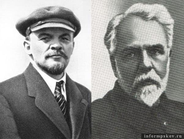 На фото: Ленин (слева) и Лепешинский (справа)