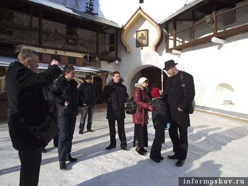 На фото: Николай Валуев в Псково-Печерском монастыре