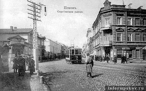 На фото: дом Шпинка на Сергиевской (справа). Сейчас на этом месте дом №14 по Октябрьскому проспекту