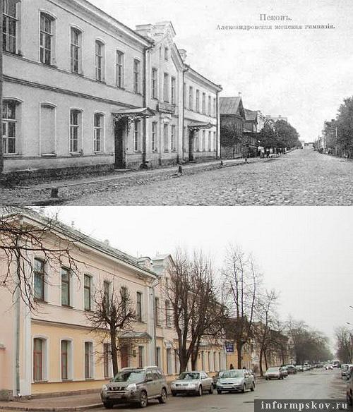 На фото: дом на Гоголя, 8 в XX и в XXI веке