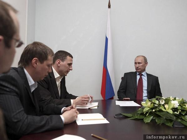 Владимир Путин на встрече с общественниками в Пскове