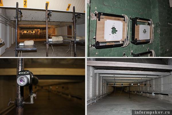 На фото: интерьеры стрелковых тиров