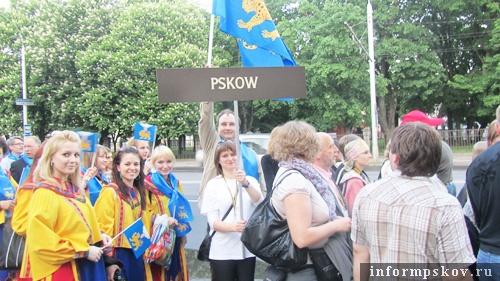 На фото: участники Ганзы (фото с pskovgorod.ru)