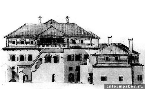 На фото: примерный вид дома в его лучшие годы
