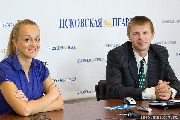 На фото: Анна Фёдорова и Валерий Гусев