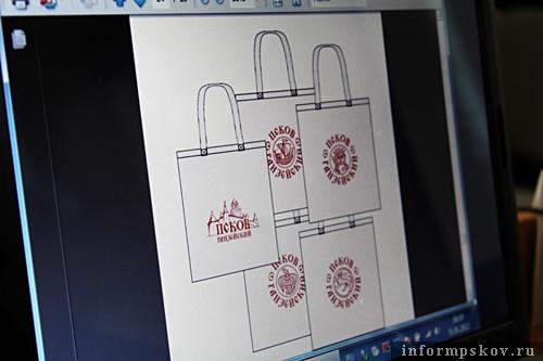 На фото: примеры использования ганзейского бренда Пскова (из материалов презентации)