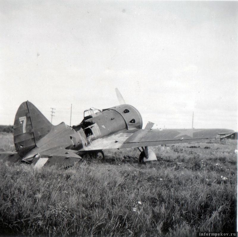 И-16 тип 5 из состава 31-го ИАП. Фото сделано практически сразу после захвата аэродрома.
