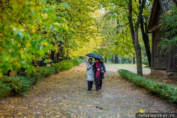 На фото: две Елены на парковой аллее в Наумово